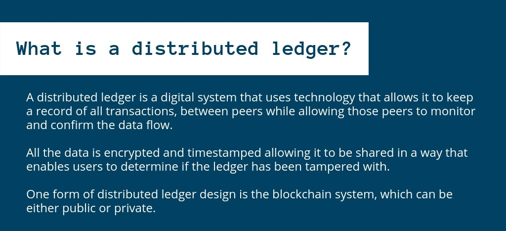Distributed ledger technology